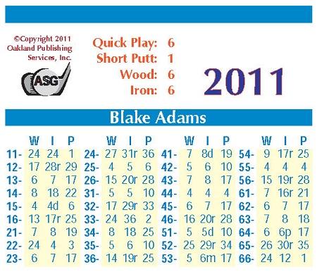 ASG Golf Board Version 2011 Golfers