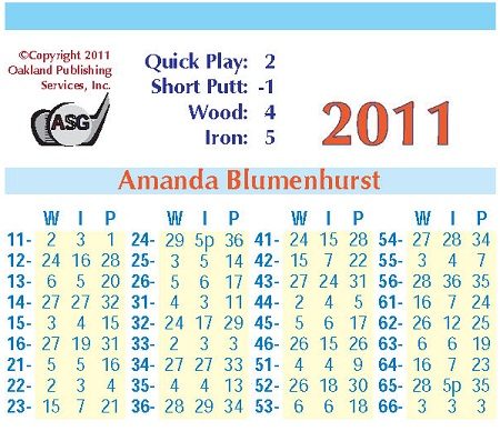 ASG PC Golf Ladies 2011 Cards
