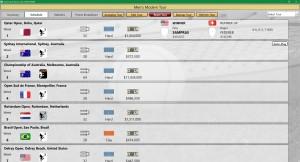Time Travel Tennis Tour Schedule